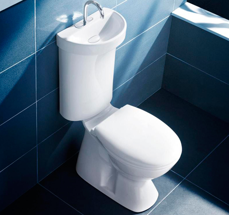 Caroma Profile Smart 305 - Dual Flush Toilet with Sink