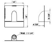 Quickflash AC U-C Universal Curved HVAC Flashing