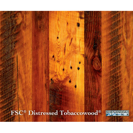 Distressed Tobaccowood Reclaimed Wood Flooring Eco