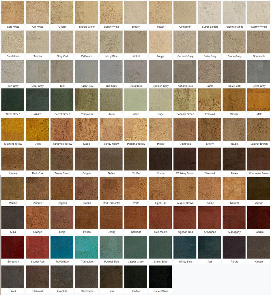 natural cork flooring colors