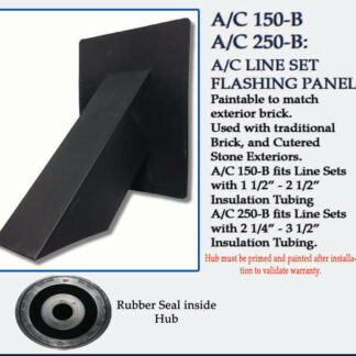 Quickflash HVAC Flashing A/C U-B for Brick and Stone