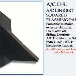 Quickflash HVAC Flashing A/C U-S squared for Siding and Stucco