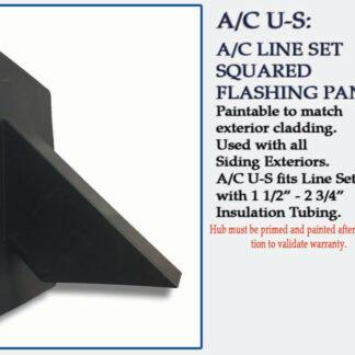 Quickflash HVAC Flashing A/C U-S squared for Siding and Stucco