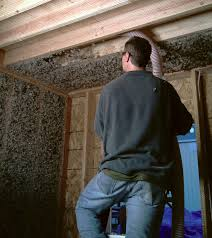 Installing Oregon Shepherd Sheep Wool Insulation into a Ceiling