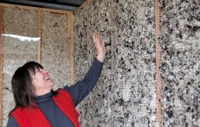 Oregon Shepherd Sheep Wool Insulation Installed in a Wall