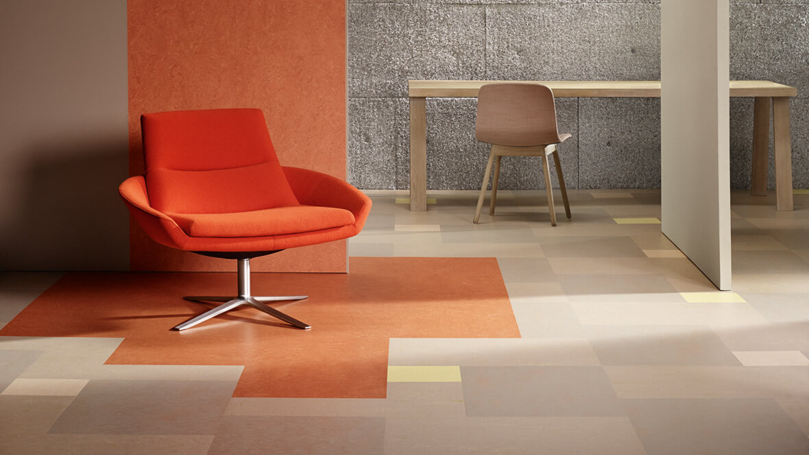 Marmoleum Modular Color Natural Linoleum Tile Flooring Eco