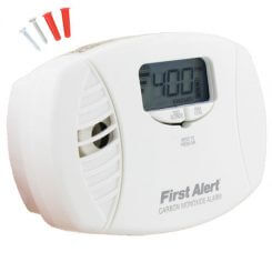First Alert Plugin Carbon Monoxide Alarm with Battery Backup and Backlit Digital Display