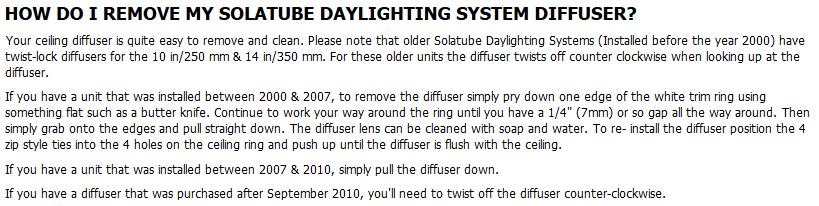 Solatube Diffuser Replacement